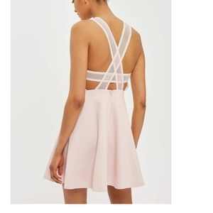 Topshop Criss Cross Open Back Mesh Strap Dress